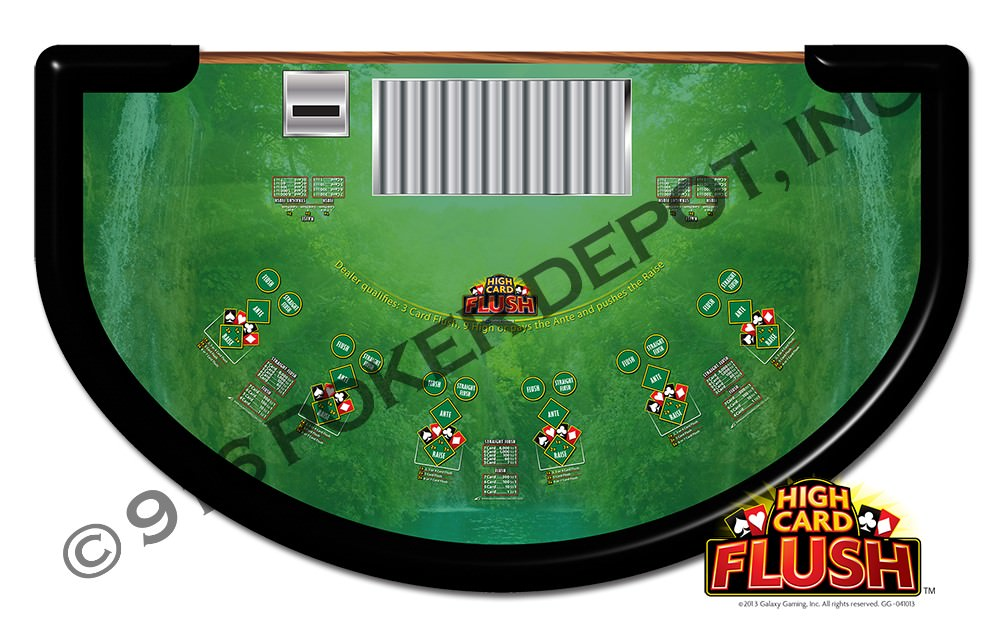 play high card flush casino table game