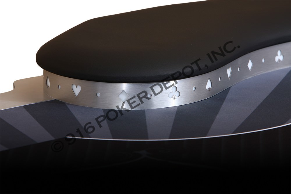 Kidney Bean Shaped LED Custom Poker Table