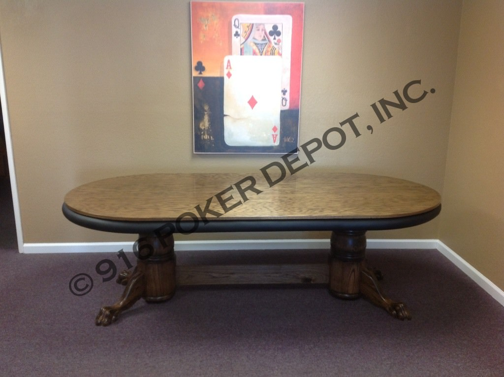Dining table top custom poker table
