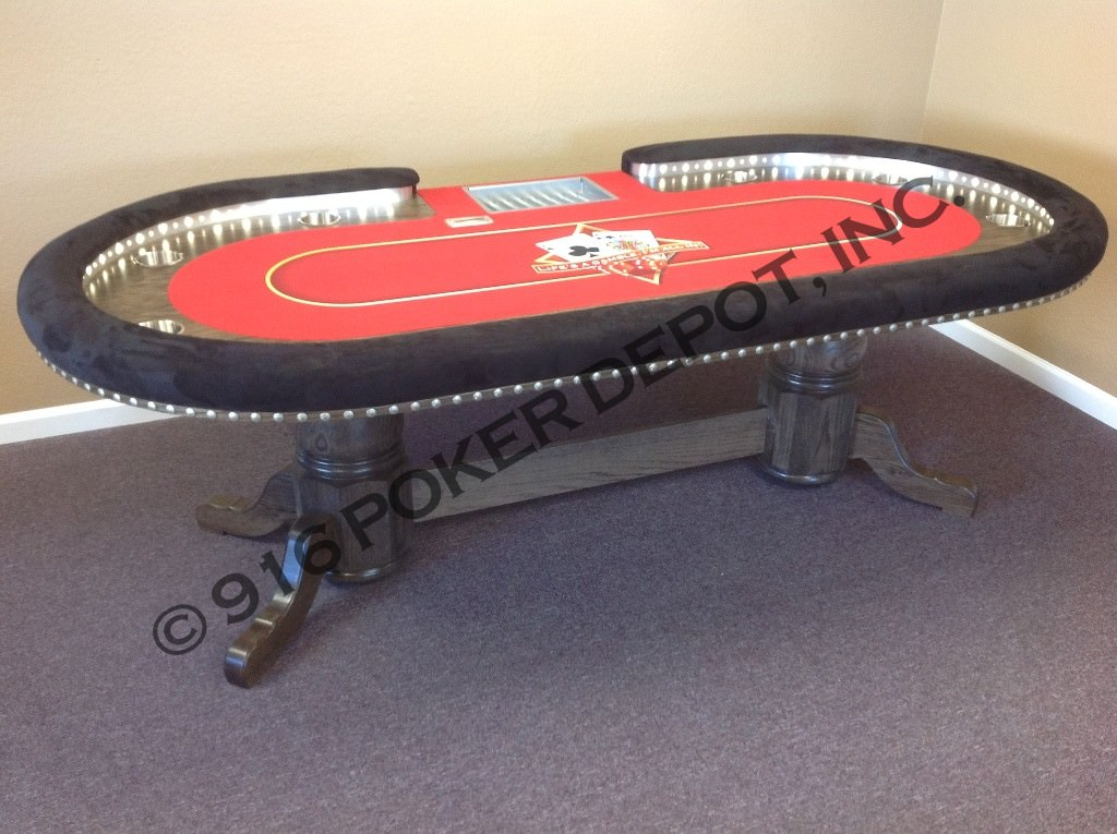 High Stakes Custom Poker Table With Dealer Tray