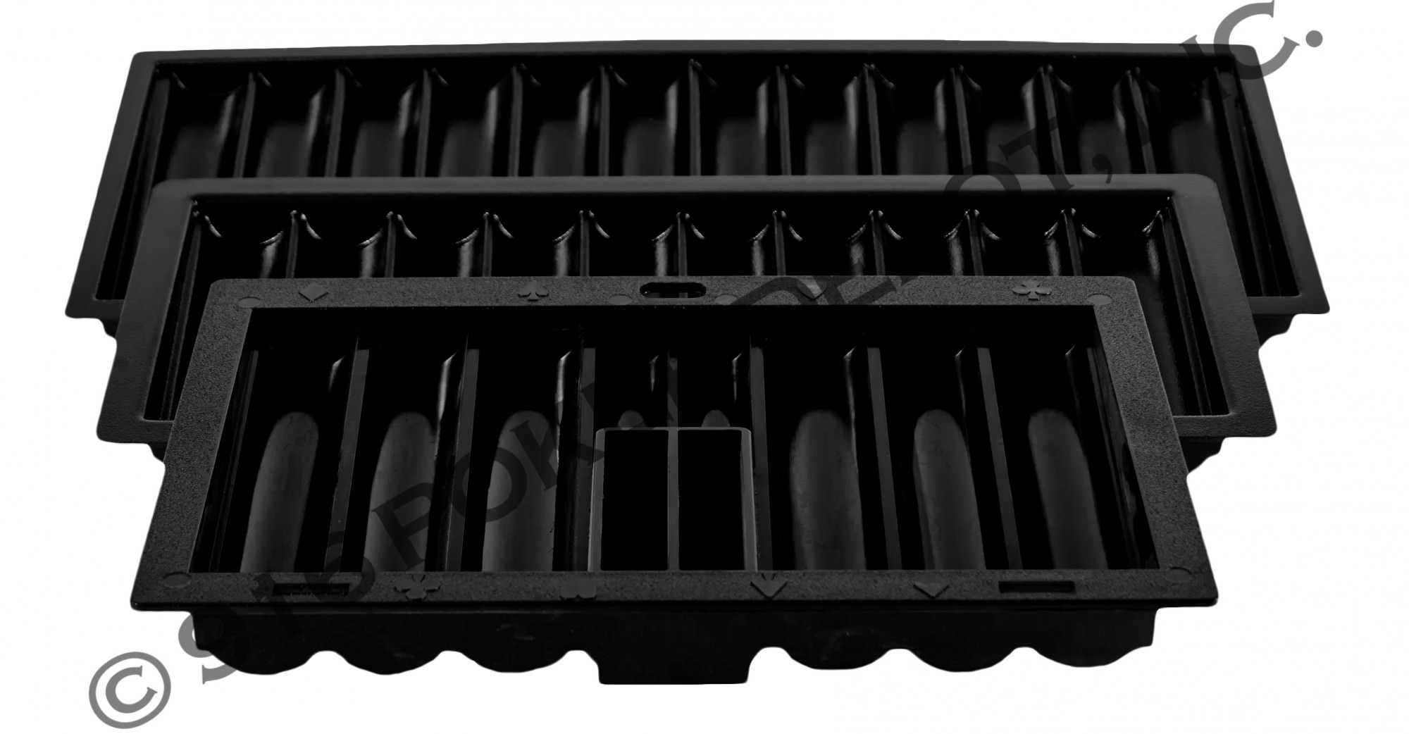 Black ABS Chip Trays