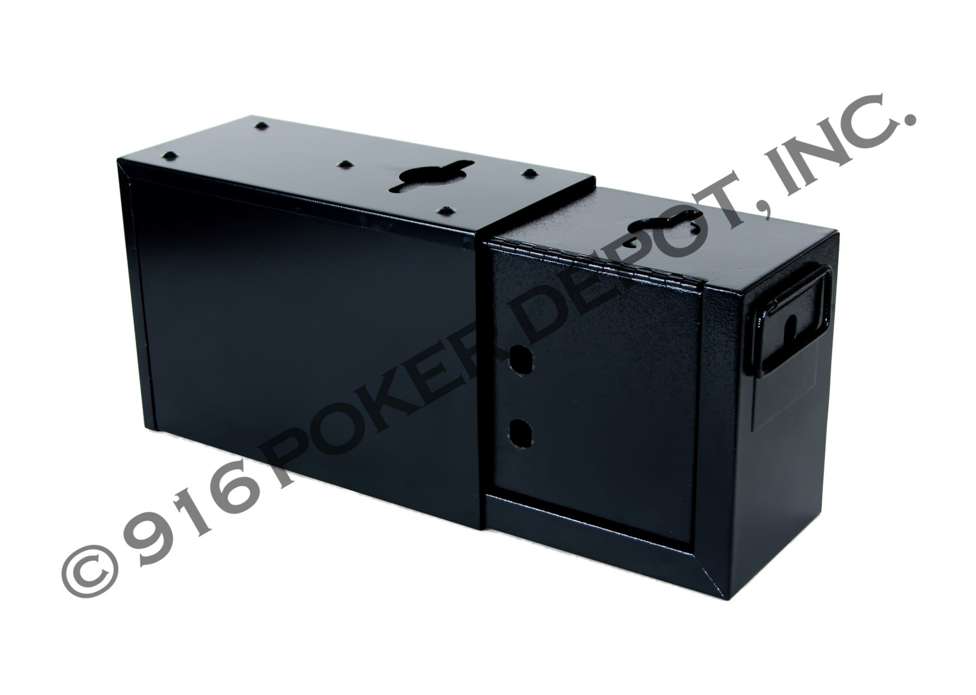Slimline Drop Box - Black Double Lock