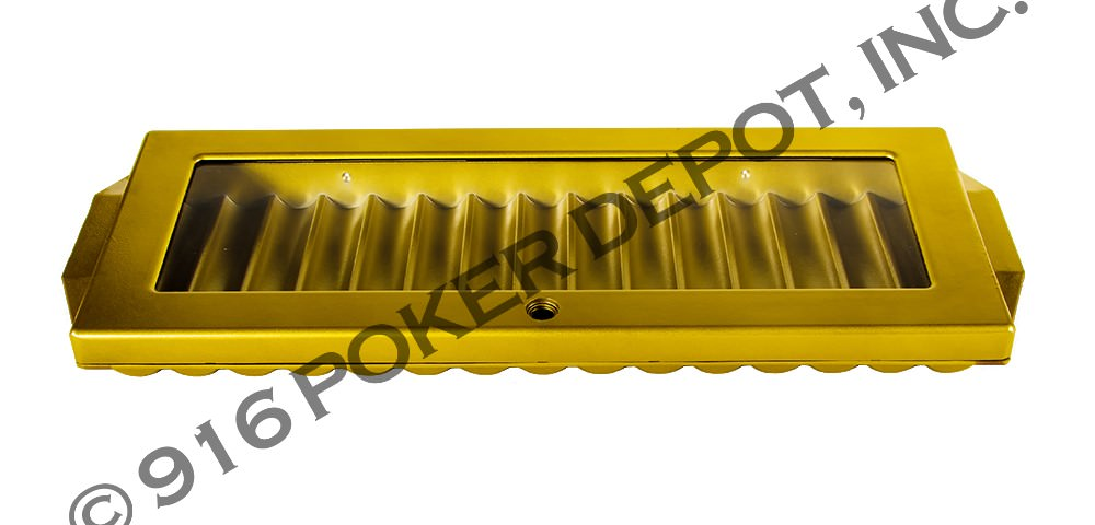 12 Tube Aluminum Chip Tray - Sun Gold