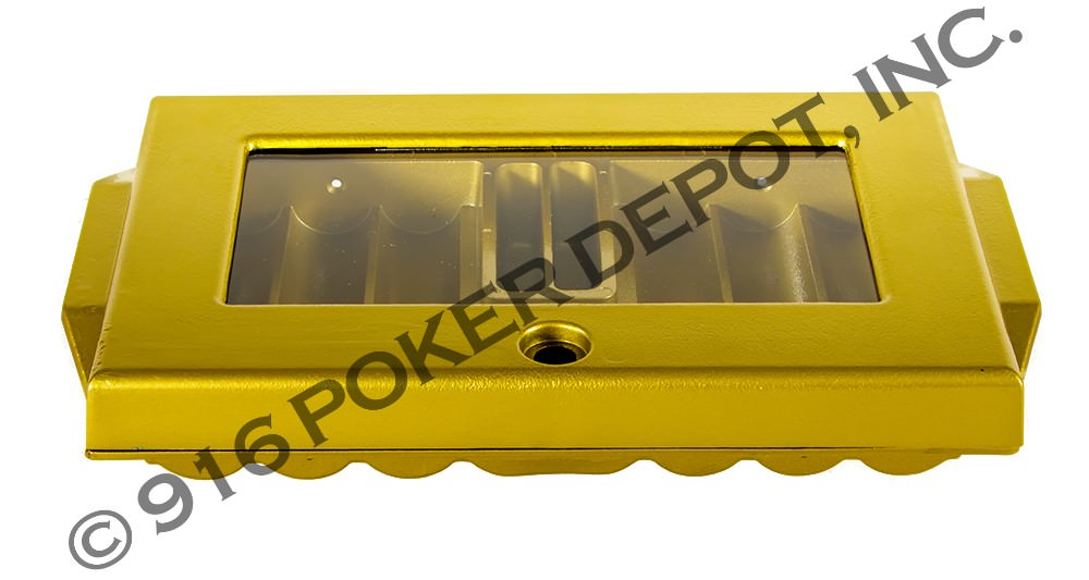 Aluminum Poker Tray with Cover - Sun Gold
