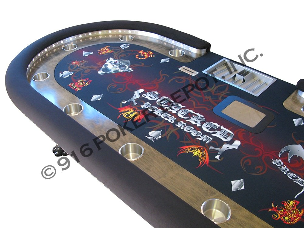 High Stakes Custom Poker Table