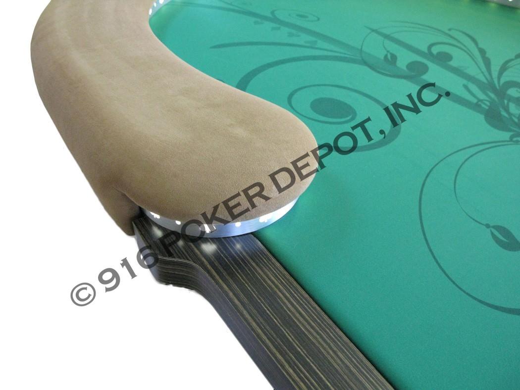 Kidney Bean Shaped LED Custom Poker Table